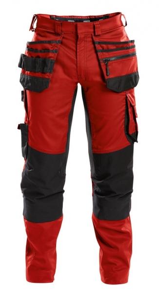 DASSY-Bundhose FLUX, rot/schwarz