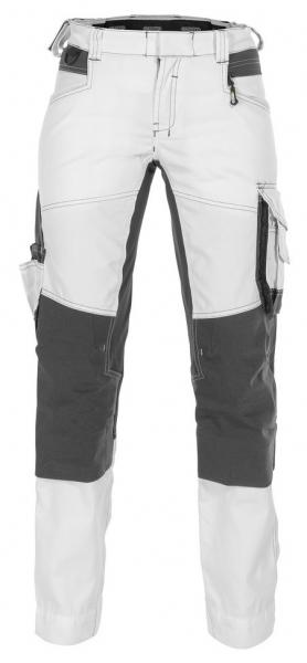 DASSY-Damen-Malerbundhose mit Stretch und Kniepolstertaschen DYNAX PAINTERS, weiß/grau