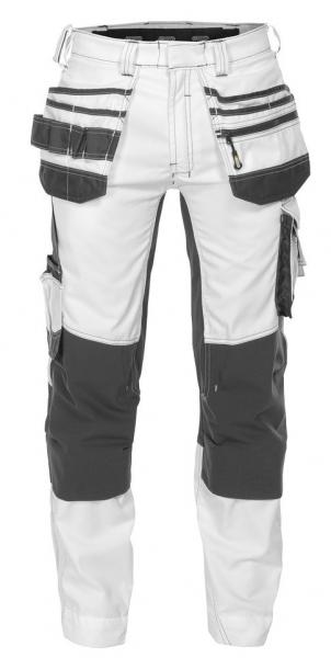 DASSY-Malerbundhose mit Stretch FLUX PAINTERS, weiß/grau