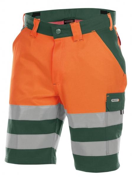 DASSY-Warnschutz-Shorts VENNA , orange/grün