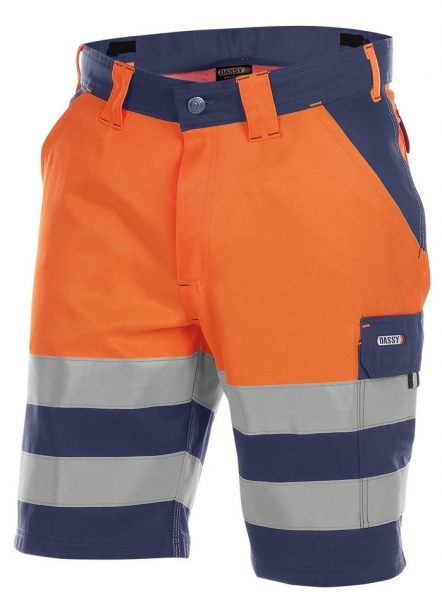 DASSY-Warnschutz-Shorts VENNA , orange/dunkelblau