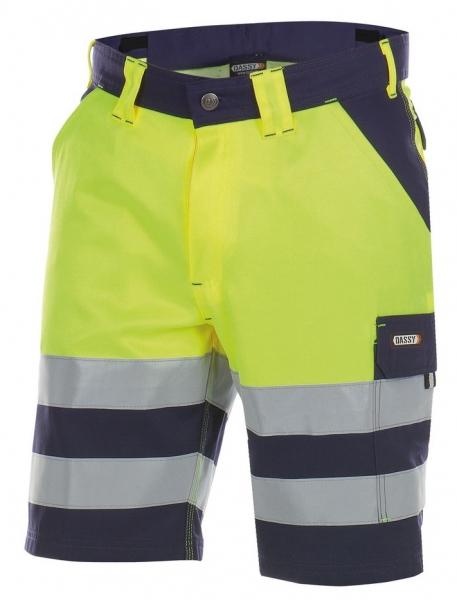 DASSY-Warnschutz-Shorts VENNA , gelb/dunkelblau