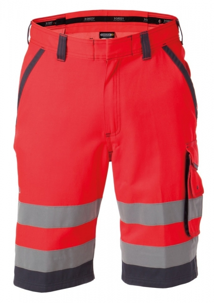 DASSY-Warnschutz-Shorts LUCCA , rot/grau