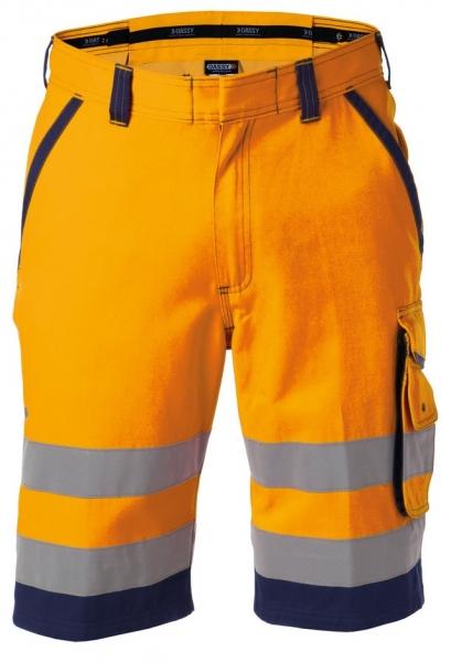 DASSY-Warnschutz-Shorts LUCCA , orange/dunkelblau