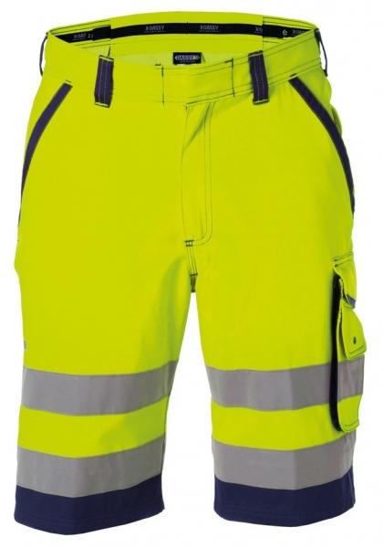 DASSY-Warnschutz-Shorts LUCCA , gelb/dunkelblau