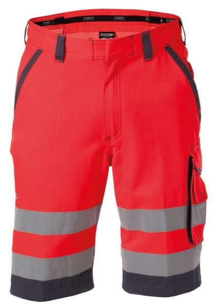 DASSY-Warnschutz-Shorts LUCCA rot/grau