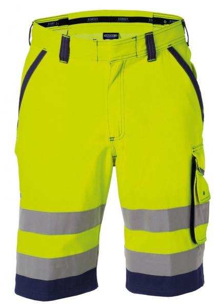 DASSY-Warnschutz-Shorts LUCCA gelb/dunkelblau