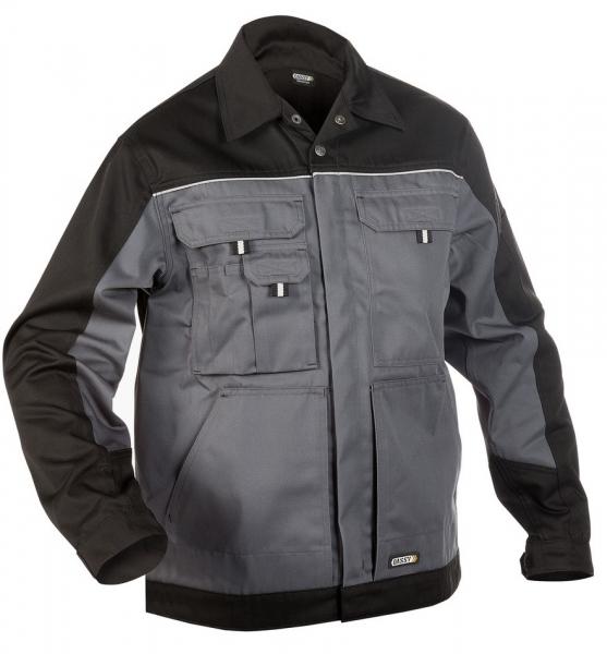 DASSY-Arbeitsjacke LUGANO,  grau/schwarz