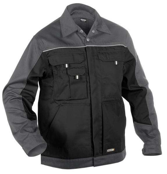 DASSY-Arbeitsjacke LUGANO,  schwarz/grau