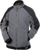 DASSY-Fleece-Arbeits-Berufs-Jacke, KAZAN, 260g/m², grau/schwarz