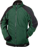 DASSY-Fleece-Arbeits-Berufs-Jacke, KAZAN, 260g/m², grün/schwarz