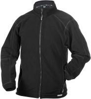DASSY-Winter-Fleece-Arbeits-Berufs-Jacke, PENZA 260 g/m², schwarz