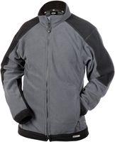 DASSY-Damen-Fleece-Arbeits-Berufs-Jacke,  KAZAN, 260g/m², grau/schwarz