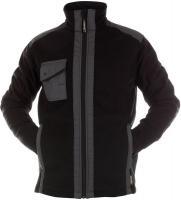 DASSY-Winter-Fleece-Arbeits-Berufs-Jacke, CROFT, 350 g/m², schwarz/grau
