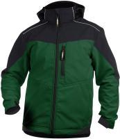 DASSY-Winter-Softshell-Arbeits-Berufs-Jacke, JAKARTA 280 g/m², grün/schwarz