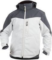 DASSY-Winter-Softshell-Arbeits-Berufs-Jacke, JAKARTA, 280 g/m², weiß/grau