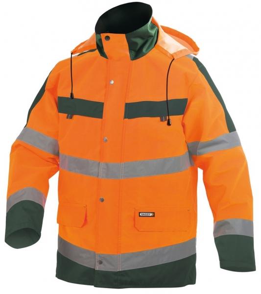 DASSY-Warnschutz-Regenparka ATLANTIS , orange/grün