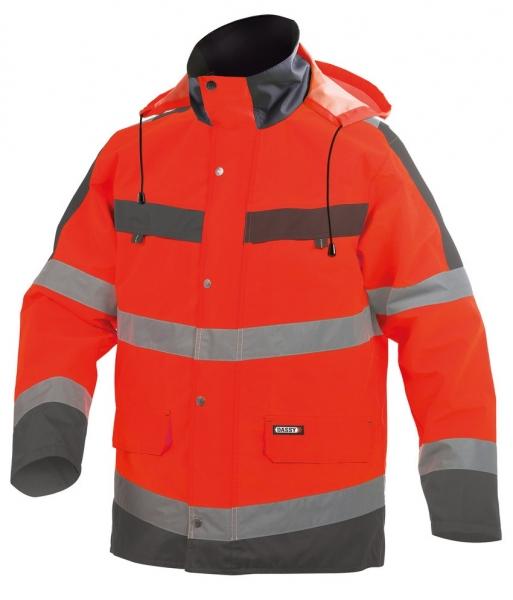 DASSY-Warnschutz-Regenparka ATLANTIS , rot/grau