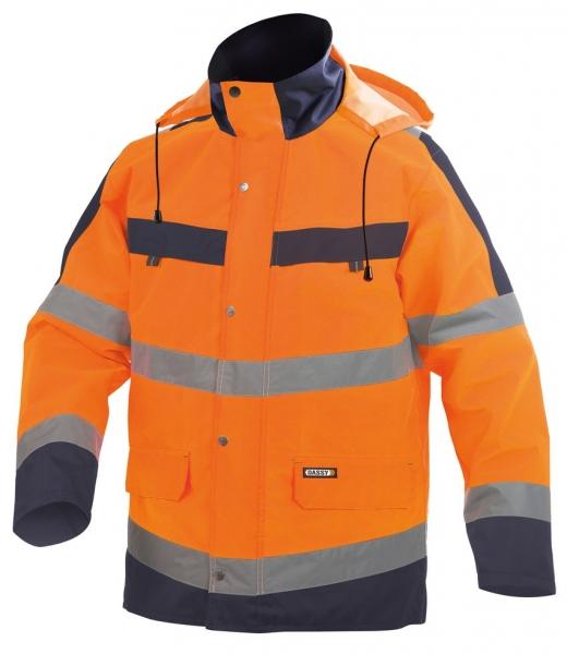 DASSY-Warnschutz-Regenparka ATLANTIS , orange/dunkelblau