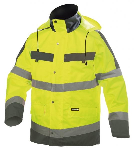 DASSY-Warnschutz-Regenparka ATLANTIS , gelb/grau