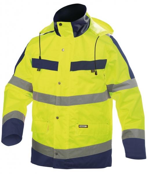 DASSY-Warnschutz-Regenparka ATLANTIS , gelb/dunkelblau
