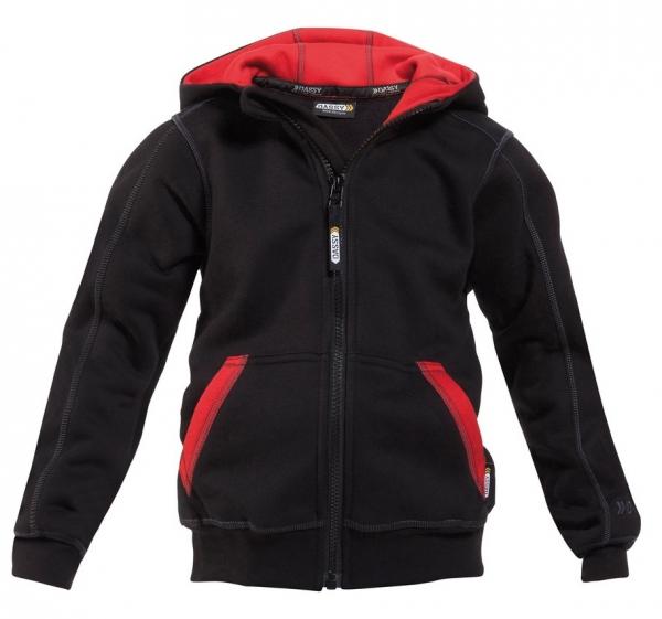 DASSY-Kapuzensweatshirt WATSON KIDS,  schwarz/rot