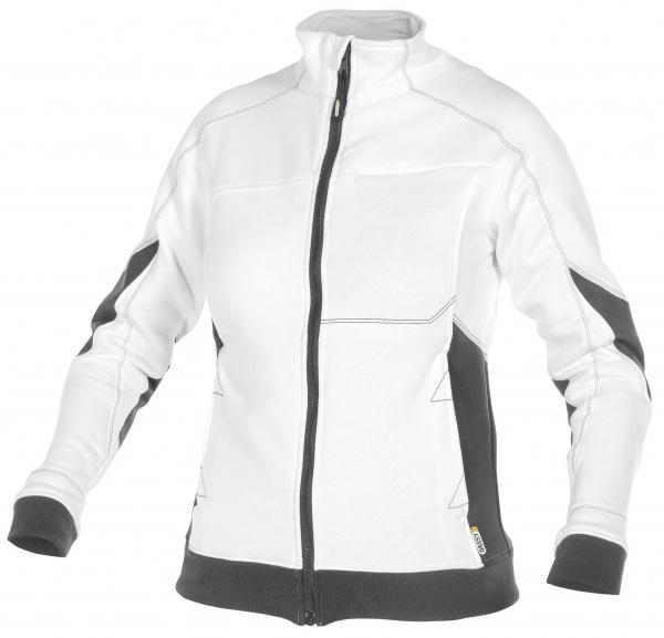 DASSY-Damen-Sweatshirt VELOX, weiß/grau