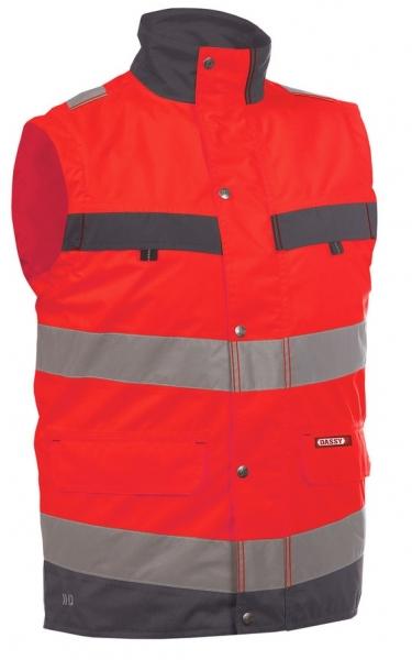 DASSY-Warnschutz-Weste BILBAO , rot/grau