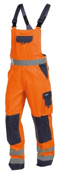DASSY-Warnschutz-Latzhose TOULOUSE , orange/dunkelblau