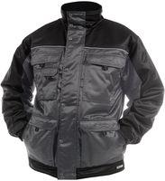 DASSY-Winter-Wetter-Arbeits-Berufs-Jacke, TIGNES, 240g/m², grau/schwarz