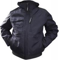 DASSY-Winter-Arbeits-Berufs-Jacke, AUSTIN, 240 g/m², dunkelblau/schwarz