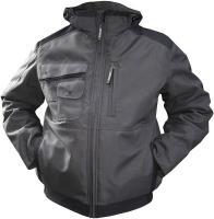 DASSY-Winter-Arbeits-Berufs-Jacke, AUSTIN, 240 g/m², grau/schwarz