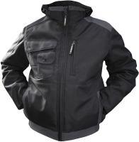 DASSY-Winter-Arbeits-Berufs-Jacke, AUSTIN, 240 g/m², schwarz/grau