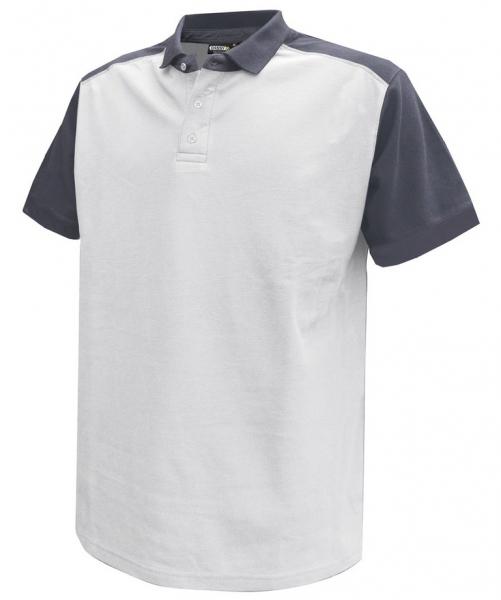 DASSY-Poloshirt CESAR,  weiß/grau