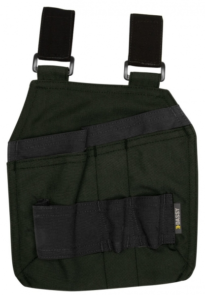 DASSY-Werkzeugtaschen mit Schlaufen CORDON, grün/schwarz