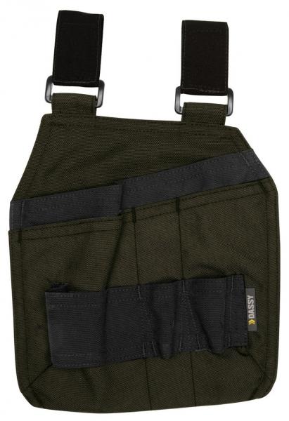 DASSY-Werkzeugtaschen mit Schlaufen CORDON, olivgrün/schwarz