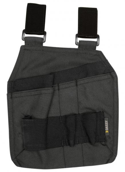 DASSY-Werkzeugtaschen mit Schlaufen CORDON, grau/schwarz