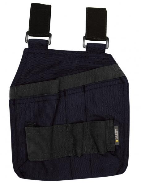 DASSY-Werkzeugtaschen mit Schlaufen CORDON, dunkelblau/schwarz