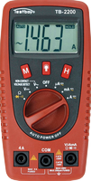 TESTBOY 2200, Digital-Multimeter, Prüf-Mess-Gerät, mit Kabelbruch-Detektor und LED-Taschen-Lampe