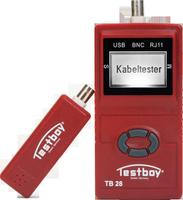 TESTBOY 28, Netzwerk-Tester, Prüf-Mess-Gerät, für USB-, RJ11-, RJ45- und BNC-Leitungen