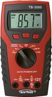 TESTBOY 3000, Digital-Multimeter, Prüf-Mess-Gerät, mit Kabelbruch-Detektor und LED-Taschen-Lampe