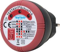 TESTBOY-Testavit Schuki 1A, Prüf-Mess-Gerät, Steckdosen-Prüfgerät