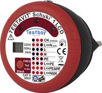 TESTBOY-Testavit Schuki 1 LCD, Prüf-Mess-Gerät, Steckdosen-Prüfgerät