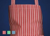 SCHLACHTHAUSFREUND-Gastrotex-Schürze, PU-Gummi-Schürze 1500, gestreift, rot/weiß