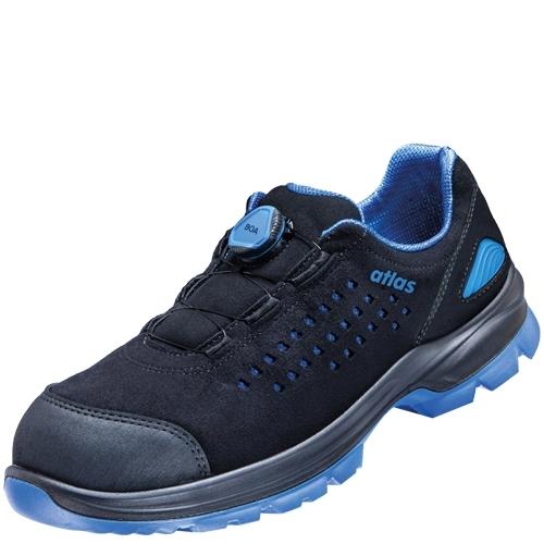 ATLAS-S1-Sicherheits-Arbeits-Berufs-Schuhe, Halbschuhe, SL 940 Boa, schwarz/blau