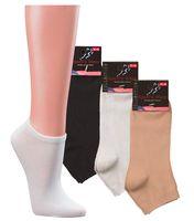 WOWERAT-Sneakers-Arbeits-Berufs-Socken,  Superweich, Pkg. á 3 Paar, schwarz