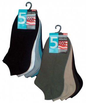 WOWERAT-Sneaker-Socken, 5er Pack, VE: 100 Paar, weiß