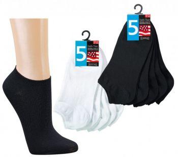 WOWERAT-Sneaker-Socken, 5er Pack, VE: 100 Paar, schwarz