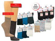 WOWERAT-Arbeits-Berufs-Gesundheits-Socken, kurzer Schaft, Pkg. á 3 Paar, schwarz