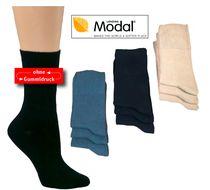 WOWERAT-Gesundheits-Arbeits-Berufs-Socken, mit Modal, Pkg. á 3 Paar, schwarz